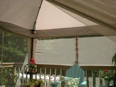 Screen In Your Deck Easily u0026 Inexpensively & Screen In Your Deck Easily u0026 Inexpensively | Portable canopy ...