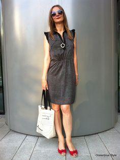 Keep your Summer Cool in #Shirtdress Black & White - Oceanblue Style - a 40+ fashion blog #Kookai