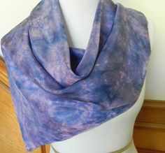 Large Square Silk Scarf Hand Dyed Shades of by RosyDaysScarves, $39.95