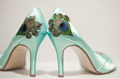 Peacock feather heels