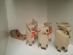 les rennes du père noël en rouleaux de papier toilette