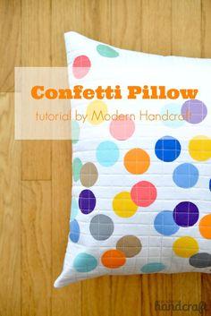 Confetti Pillow: A Tutorial – Modern Handcraft