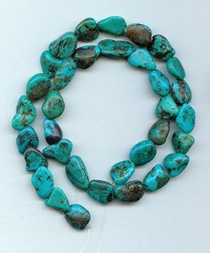 Real Turquoise Nugget  Beads