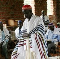 Jews of Uganda  Abayudaya men in prayer.