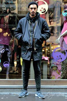 streetstyle street style men fashion sneakers #Menswear #Streetwear #Style #Fashion #Clothing #Urban #Photography #Looks #Outfit #Black #Nike