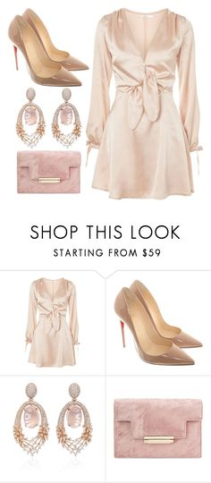 """Untitled #302"" by randayambo0318 ❤ liked on Polyvore featuring Oh My Love, Christian Louboutin and Hueb"