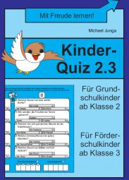Kinder- Quiz 2.3 | Deutsch | Nach Fach | Unterrichtsmaterialien, Arbeitsblätter & Übungsblätter | Mein-Unterrichtsmaterial.de