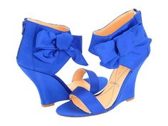 Pour la Victoire Shoes - New Pour La Victoire Divia Blue Bow Wedges Bridal Shoes Wedges, Blue Bridal Shoes, Wedge Wedding Shoes, Wedge Shoes, Intuition, Blue Dress Shoes, Something Blue Wedding, Blue Wedges, Bride Shoes