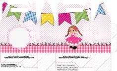 Caixa Maleta Festa Junina Rosa
