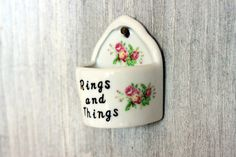 ring holder // vintage nanco rings and things // by umbrellafant, $7.00