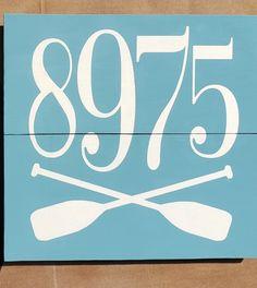 Home Address sign for lake, river, ocean, gulf addresses House Address Sign, Address Signs, Canoe, Farmhouse, Ocean, River, The Ocean, Sea, Rivers