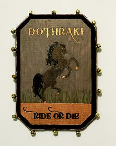 The Dothraki do not use sigils, but if they did, I imagine it would be something like this.