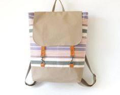 ONLY 1 LEFT Unisex Melange gray and denim wool  Backpack