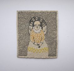 dreamer portrait with yellow-gold embroidery