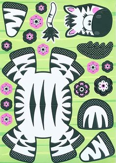 Zebra knutselen met kleuters / zebra