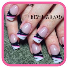 Black and white nails | gel nails