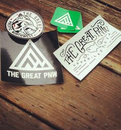 The Great Pacific Northwest — PNW Sticker Pack Typography Logo, Lettering, Logo Design, Graphic Design, Gadgets And Gizmos, Bumper Stickers, Pacific Northwest, Logo Inspiration, Cool Designs
