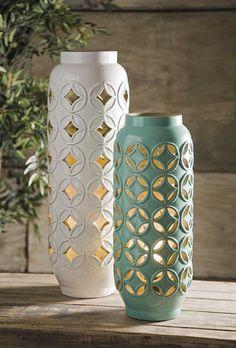 IMAX Creighton Cutwork Ceramic Lamp – Modish Store