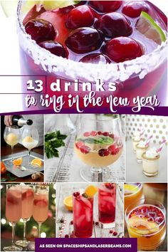 Drinks to ring in the New Year--these all sound delicious