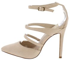 CURRY NUDE SU POINTED TOE MULTI STRAP HEEL ONLY $10.88