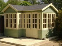 2 Door Corner Summer House
