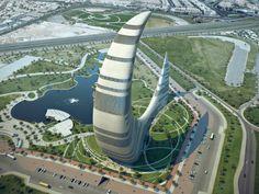 Crescent Moon Tower, der Wolkenkratzer der Zukunft im Himmel über Dubai?                                                                                                                                                                                 Mehr