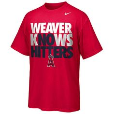 Los Angeles Angels of Anaheim Jered Weaver No Hitter T-Shirt by Nike - MLB.com Shop