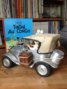 maquette voiture Ford T Tintin au congo