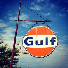 Vintage Gulf sign Old Gas Pumps, Tuskegee Airmen, Man Cave Art, Old Gas Stations, Porcelain Signs, Perfume, Texaco, Car Advertising, Old Signs