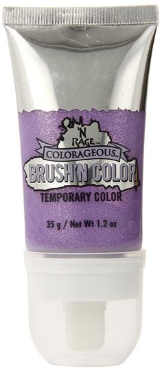 N'Rage Colorageous Brush'N Color Temporary Hair Color, Lavender Glitter, 1.2 Ounce * Visit the image link more details.