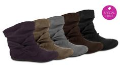 - Rampage Women's Buckley Faux-Suede Ankle Boots. Multiple Colors Available from $10.99–$14.99. - LOVE THESE! -