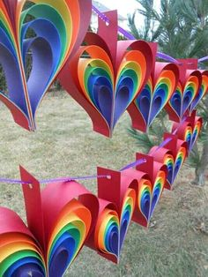 TWO Garlands Of RAINBOW HEARTS 10 Hearts Wedding Shower Decoration Home Decor Custom Orders Welcome Any Color Available Color Custom Decor decoration Fiestadelosni osarcoiris garlands hearts Home Orders Rainbow Shower Wedding Kids Crafts, Summer Crafts, Diy And Crafts, Arts And Crafts, Kids Diy, Decor Crafts, Plate Crafts, Wood Crafts, Valentine Day Crafts