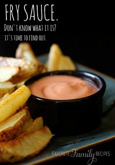 If you don't know what fry sauce is... you must live anywhere but Utah. Dip fries in it, dip tater tots in it, dip potato wedges in it...any type of potatoes!