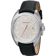 Armani Mens AR5908 Sport Date Window Silver Dial watch