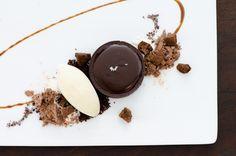 Chocolate Caramel Tart, Kona Coffee, Vanilla Ice Cream