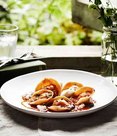 Australian Gourmet Traveller kamut tortellini with lobster and coral bisque.