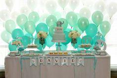 ombre balloon backdrop-cute idea for baby shower Baby Shower, Shower Bebe, Party Kulissen, Party Time, Party Ideas, Teal Party, Casino Party, Balloon Backdrop, Balloon Wall