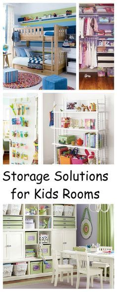Storage Solutions for Kids' Rooms • Round Up of Tips & Ideas!
