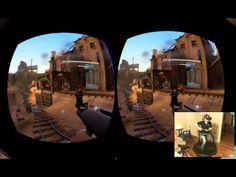 Team Fortress 2 jugado con anteojos de VR y cinta para correr