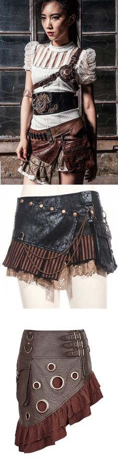 Shop Steampunk Victorian mini skirts at RebelsMarket.