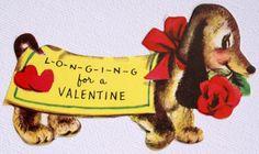 1940s Vintage Dachshund Valentine