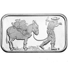 1 oz SilverTowne Retro Prospector Silver Bars from JM Bullion™