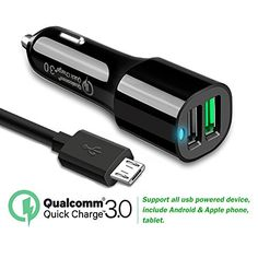 Quick charge 3.0 Car Charger Dual USB Port with Micro USB Cable for HTC One X10, One A9, One M9/M9Plus/M8/M7,HTC 10,HTC Desire, Blackberry Priv, Amazon Kindle Fire 7, Fire HD8 HD10 Tablet #Quick #charge #Charger #Dual #Port #with #Micro #Cable #M/MPlus/M/M,HTC #,HTC #Desire, #Blackberry #Priv, #Amazon #Kindle #Fire #Tablet