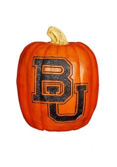Baylor Bears Small Resin Pumpkin