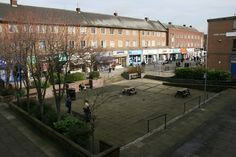 The first pedestrianized shopping precinct in the UK. Second only to Peterlee for the largest concentration of Pound Shops in the region