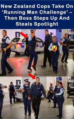 #newzealand #cops #take on #running man 3challenge then #boss #steps up and #steals #spotlight #funny Running Man Challenge, C Ops, People Videos, Saga, Spotlight, New Zealand, Revolution, Police, Challenges