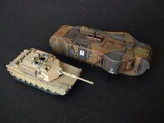 Tank Abrams and I WW german tank K- Wagen.