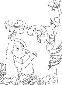 Adam and Eve Coloring Pages . Adam and Eve Coloring Pages . Adam and Eve Coloring Page Snake Coloring Pages, Creation Coloring Pages, Free Bible Coloring Pages, Preschool Coloring Pages, Preschool Bible, Bible Activities, Printable Coloring Pages, Coloring Pages For Kids, Coloring Sheets