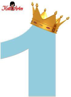 KATIA ARTES - BLOG DE LETRAS PERSONALIZADAS E ALGUMAS COISINHAS: Numerais Rei e Rainhas 1st Birthday Girls, Happy Birthday, Castle Cartoon, Tsum Tsum Party, Safari Theme Party, Birthday Numbers, The Little Prince, Alphabet And Numbers, Felt Ornaments