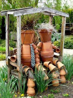 Figuren Für Den Garten Aus Tontöpfen Gebastelt | Blumentöpfe Gestalten |  Pinterest | Garden Works, Gardens And Craft